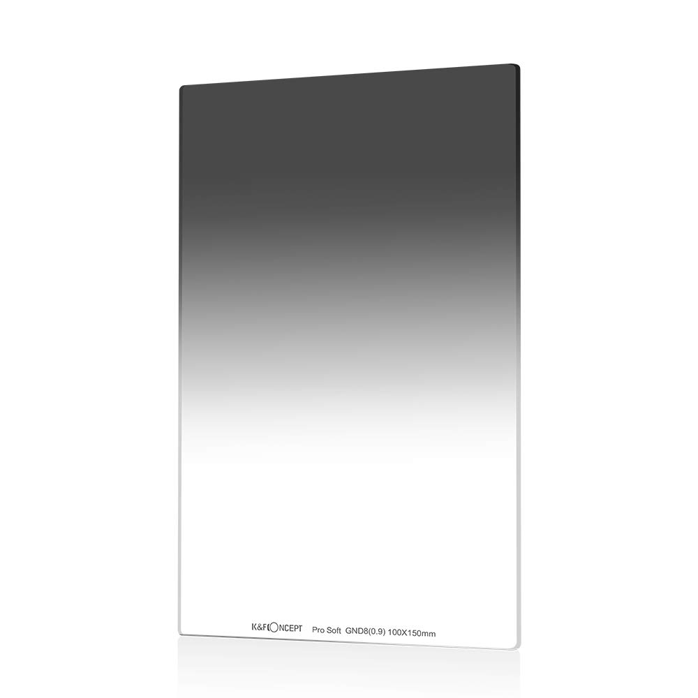 K&F Concept 100X150mm Soft Grad ND8 Square Neutral Density Filter 3 Stops Multi Coated Compatible with Cokin Z Holder
