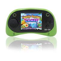 Kids Portable Handheld Game Console - RS-8X [Upgrade] 16 Bit HD Game Player Built-in 42 Games with 2.5 Inch LCD Screen Handheld Rechargeable Gaming System Best Gifts for Children & Family(Green)