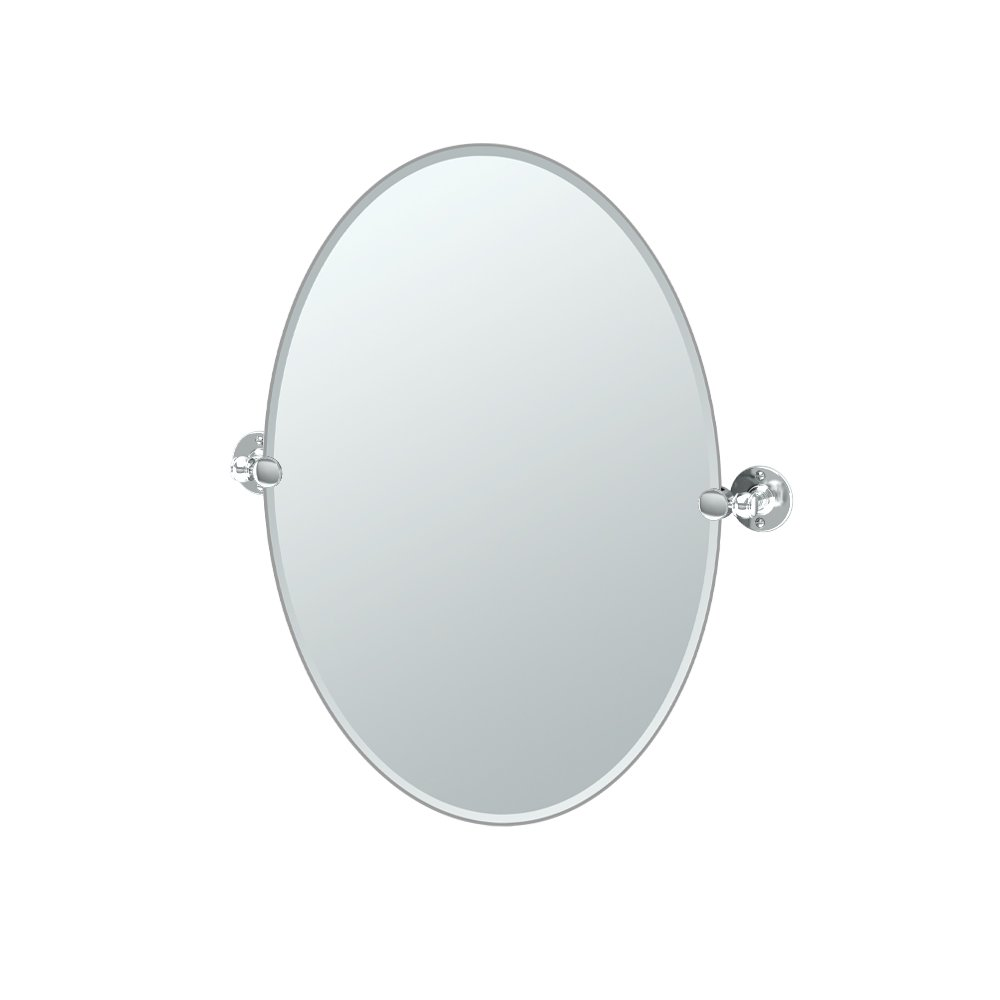 Gatco 4419 Cafe Oval Mirror, 26.5 H x 24 W