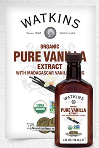 Watkins Organic Pure Vanilla Extract, with Madagascar Vanilla Beans, 4 oz. Bottle, 3-Pack