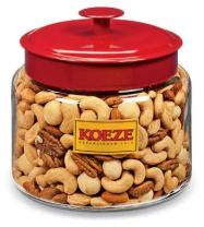Koeze Mixed Nuts with Macadamias - 3 lb. Party Jar - Contains: Colossal Cashews, Southern Pecans, White Macadamias and California Almonds