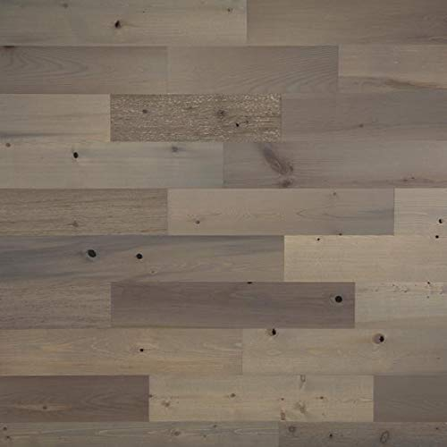 """Timberchic DIY Reclaimed Wooden Wall Planks - Simple Peel and Stick Application. (5"""" Wide - 10 Sq. Ft, Driftwood)"""