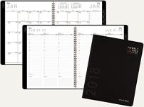 AT-A-GLANCE Weekly / Monthly Appointment Book / Planner 2018, 8.25 x 10.88 Inches, Contemporary, Black (70-950X-17)