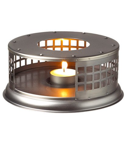 GROSCHE Nairobi Premium Teapot Warmer with tea lite candle. For glass teapot and other heatproof dish warming use.