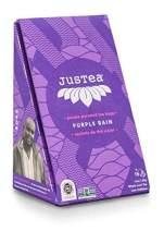 JusTea PURPLE RAIN | Pyramid Tea Bags | Whole Leaf Purple Tea | 15+ cups | 1.1 Ounce | Low Caffeine | Organic | Fair Trade | Non-GMO | Biodegradable