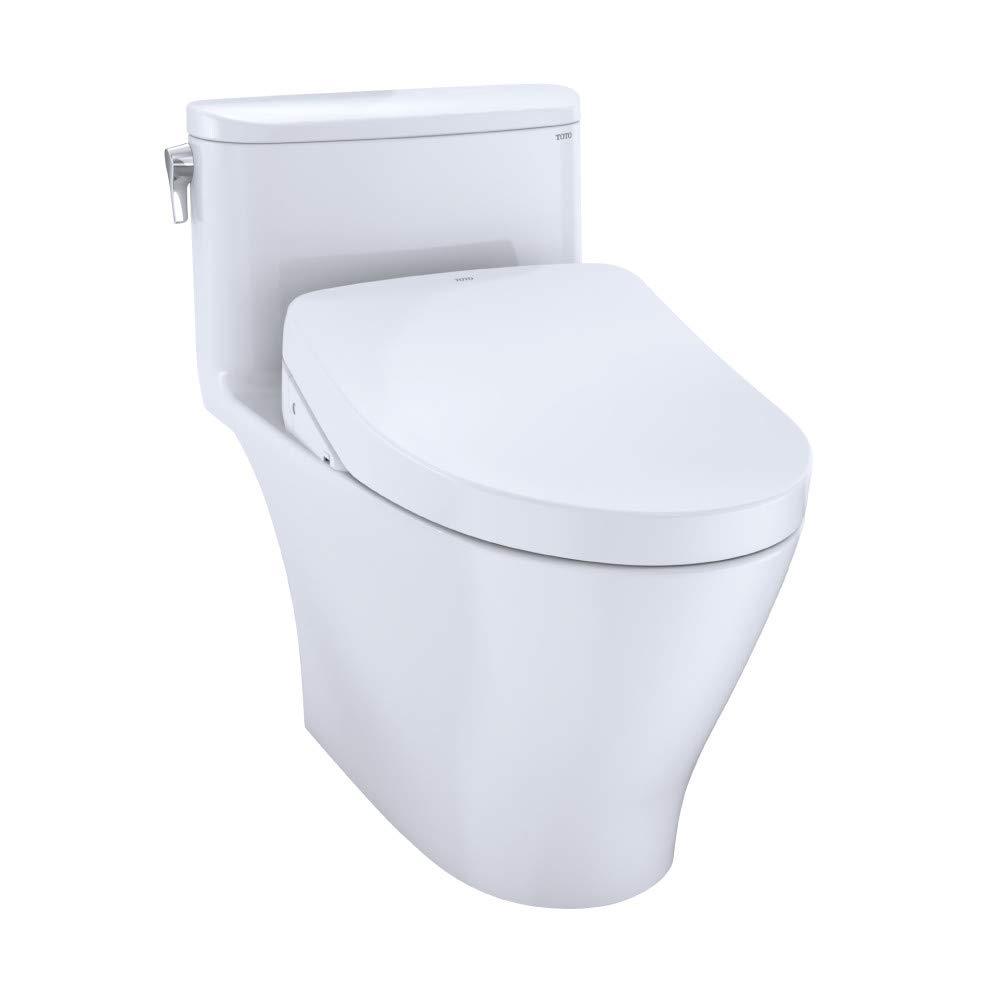 TOTO MW6423056CEFG#01 WASHLET+ Nexus 1-Piece Elongated 1.28 GPF Toilet w/ S550e Bidet Seat (Cotton White)