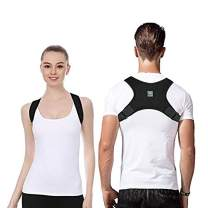 Posture Corrector for Men & Women that Provide Back Support Brace, Improve Thoracic Kyphosis, Prevent Slouching | Under Clothes Upper Back Brace | Adjustable Size(L,Black)