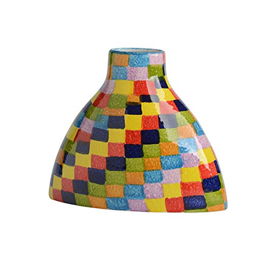 Colorful Gondola Vase - Rainbow Colors Dinnerware & Kitchen Décor - Handmade in Italy from Our Modigliani POP Check Collection