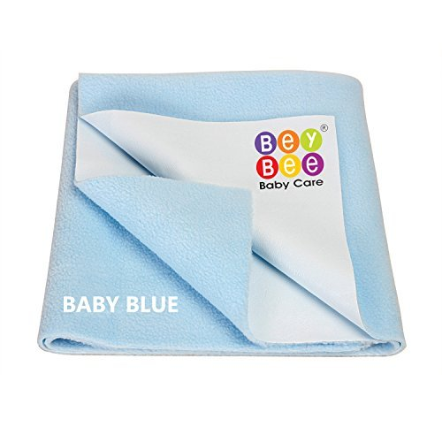"""Bey Bee Premium Quality Bed Pad Water Resistant Bed Protector Baby Dry Sheet, Washable Waterproof Mattress Protector/Baby Cot Sheets/Reusable Underpad Sheet for Incontinence (Medium Size 39""""x28"""")Blue"""