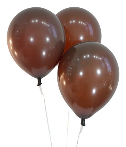 """CELEBRITY Balloons 12"""" Latex Balloons - Pack of 100 Pieces - Decorator Brown"""