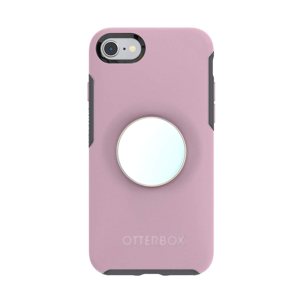 Otter + Pop for iPhone SE, 7 and 8: OtterBox Symmetry Series Case with PopSockets Swappable PopTop - Mauvelous and Color Chrome Mermaid White