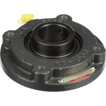 "Sealmaster SFC-31 Standard Duty Piloted Flange Cartridge Unit, 4 Bolt, Regreasable, Felt Seals, Setscrew Locking Collar, Cast Iron Housing, 1-15/16"" Bore, 6-1/8"" Overall Length, 3.630"" Bolt Hole Spacing Width, 7/16"" Flange Height, ±2 Degrees Misalignment Angle"