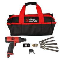 Chicago Pneumatic CP7160K Low Vibration Short Hammer Kit, Complete Power Tool Kit with Soft Travel Bag