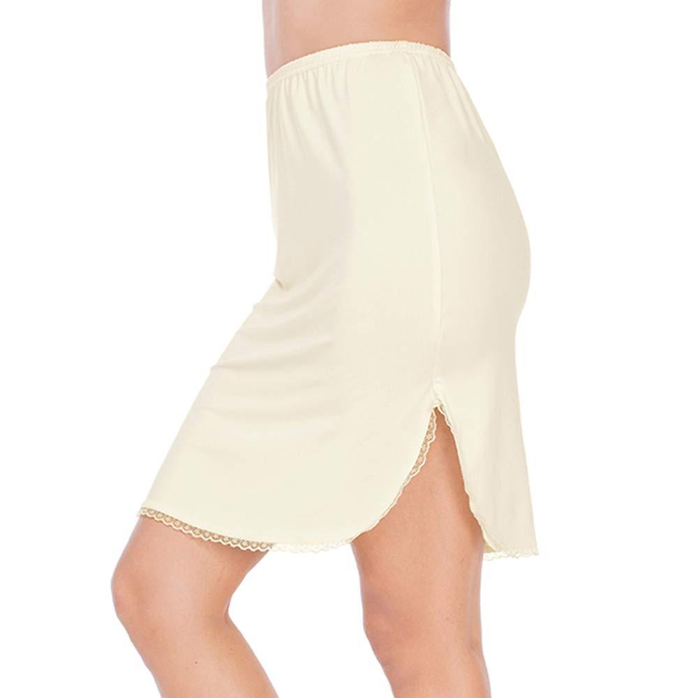 MANCYFIT Half Slips for Women Underskirt Short Mini Skirt with Floral Lace Trim
