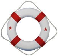 "Hampton Nautical  Lifering, 15"", Red"