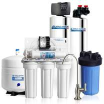 APEC Water TO-SOLUTION-IRON15 Whole House Iron and Hydrogen Sulfide Removal Water Filter, Salt Free Water Softener & Reverse Osmosis Drinking Water Filtration Systems For 3-4 Bathrooms