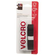 VELCRO Brand - Sticky Back Hook and Loop Fasteners – Peel and Stick Permanent Adhesive Tape Keeps Classrooms, Home, and Offices Organized – Cut-to-Length Roll |  18in x 3/4in Tape | Black