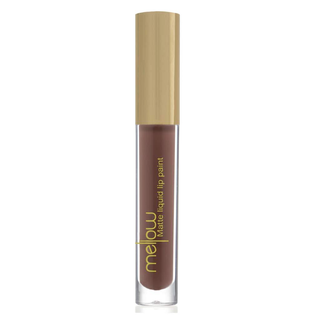 Liquid Matte Lip Paint (Milan) - Highly Pigmented, Smudge Proof & Moisturizing Lip Color Cream - Vegan, Cruelty-Free & Paraben Free Lip Makeup by Mellow Cosmetics - Milan