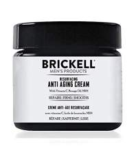 Brickell Men's Products Resurfacing Anti-Aging Cream For Men, Natural and Organic Vitamin C Cream, 2 Ounce, Unscented