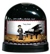 Printedperfection Com Personalized Friendly Folks Cartoon Caricature Snow Globe Gift Guitar Player Male Great For Band Music Enthusiast