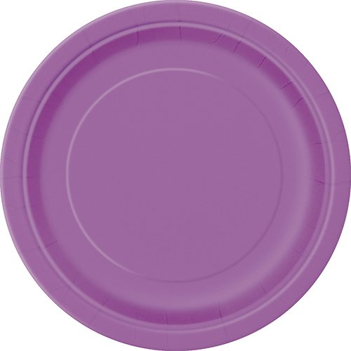 Purple Paper Cake Plates, 8ct