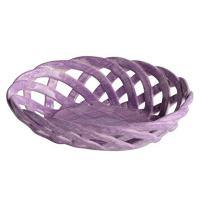 "Handmade Italian Violet Ceramic Basket (5.25"" x 4"") | Intrecci Collection by Modigliani – Small, Hand-Painted Ceramic Woven Home Décor Baskets | Perfect Italian Bon Bon Basket Jewelry Dish"