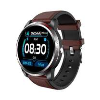 NiceFuse Smart Watch, Fitness Tracker with Heart Rate Monitor Blood Oxygen Saturation Meter Sleep Monitor, Waterproof Smartwatch Compatible with iPhone Samsung Android Phones(Brown)