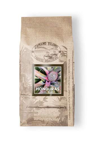 Camano Island Coffee Roasters Honduras Dark Roast Coffee- Fresh Premium USDA Certified Organic, Shade Grown, Fair Trade, and Ethical