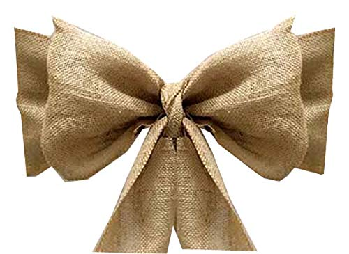 mds Pack of 25 Natural Burlap Chair Bow Sashes Natural Jute Country Vintage for Wedding and Events Supplies Party Decoration- Natural Jute Burlap Hessian Sashes