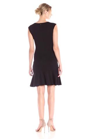 Lark & Ro Women's Sleeveless Sheath Dress with Hem Ruffle