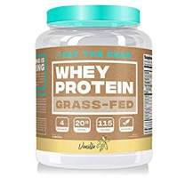 Eat the Bear, Naturally Grass Fed Whey Protein Powder, Keto Friendly Protein Powder, 115 Calories, All Natural, Gluten Free (25 Servings, Vanilla)