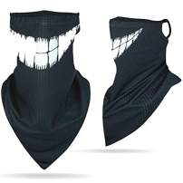 DD DEMOISELLE Face Scarf Earloops Men's Women's Neck Gaiter Face Cover Bandana 1 Pack Tooth