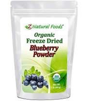 Organic Blueberry Powder - Freeze Dried Fruit Powder For Smoothie, Drinks, Baking & Recipes - Powdered Berry Superfood - All Natural, Unsweetened, Raw, Non GMO, Vegan, Gluten Free - 1 lb