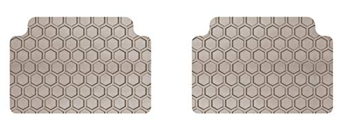 Intro-Tech BM-633R-RT-T Hexomat Second Row 2 pc. Custom Fit Auto Floor Mats for Select BMW 7 Series Models - Rubber-like Compound, Tan
