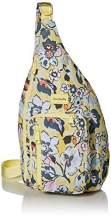 Vera Bradley Recycled Lighten Up Reactive Sling Backpack, Sunny Garden