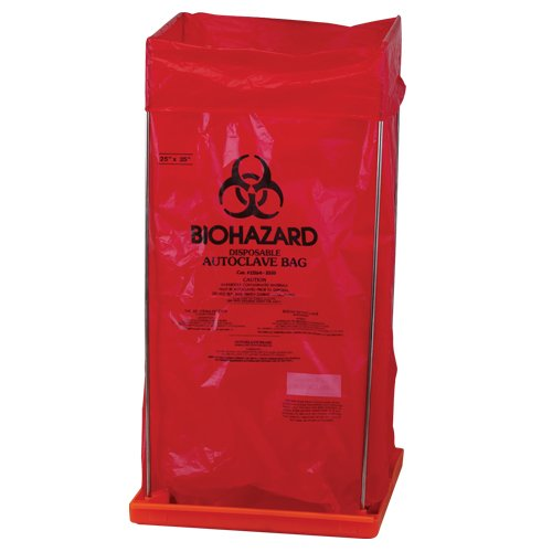 Bel-Art Clavies Biohazard Bag Holder for 24W x 36 in. H Bags (F13192-0003)