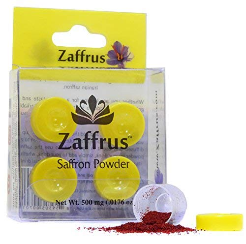 Zaffrus - Premium Saffron Powder for Cooking/Gym-Goers/Specialty Drinks Fans - Pack of 4 (500 mg/.0176 oz)