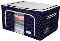 Oxford Fabric Storage Box with Steel Frame for Clothes Bed Sheets Blanket