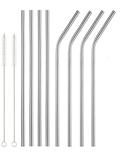 """Lepilion Stainless Steel Drinking Straws 8 