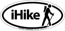 Magnet America iHike Oval Decal (Non-Magnetic!)