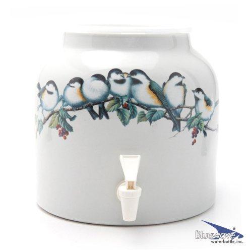 Bluewave Song Birds Design Beverage Dispenser Crock