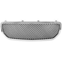 Grille Compatible With 2005-2007 Dodge Magnum | Honeycomb Mesh Style ABS ChromeFront Bumper Hood Grill by IKON MOTORSPORTS