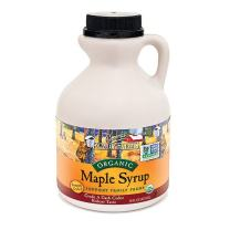 Maple Syrup, Organic Grade A, Dark Color, Robust Taste, 16 Fl Oz