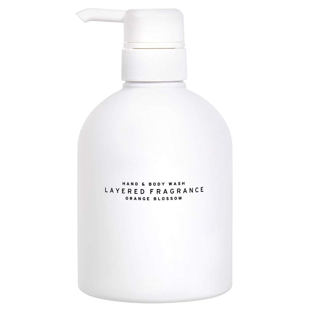 LAYERED FRAGRANCE Hand and Body Wash for Women and Men from Japan 17.6 Fl Oz Orange Blossom