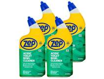 Zep New Acidic Toilet Bowl Cleaner 32 Ounces ZUATBC324 (Pack 4) 2X Thicker Than Before. linging Formula