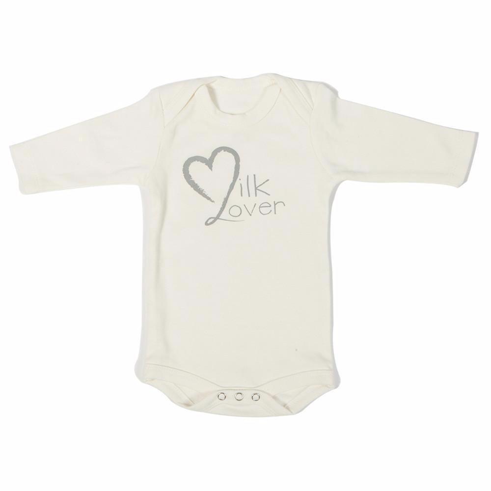 Poncho Baby Organic Bodysuit - Off White Long Sleeve Organic Cotton Onesie with Mitten Cuffs