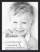 ArtToFrames 24x32 inch Black Picture Frame, 2WOMFRBW72079-24x32