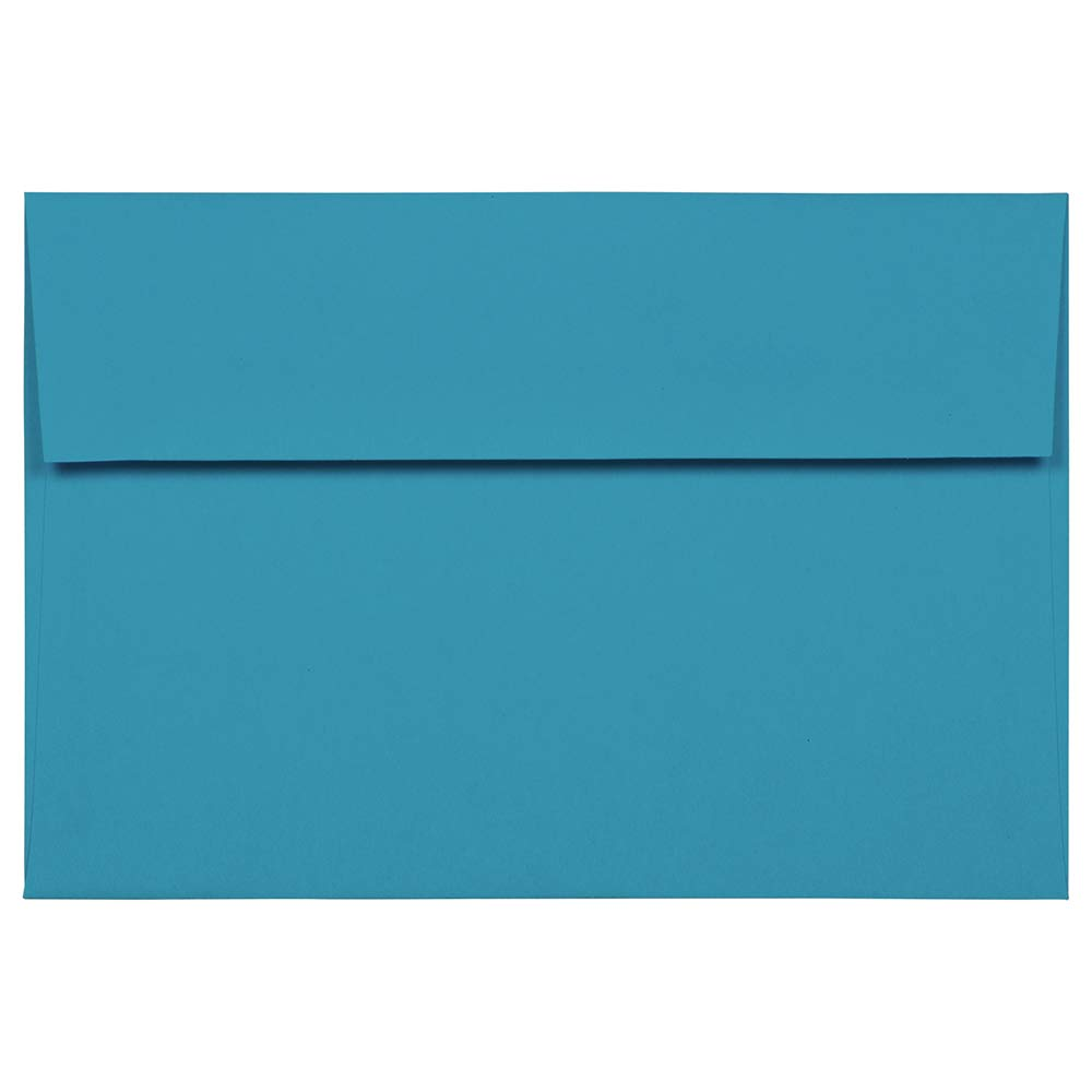 JAM PAPER A8 Colored Invitation Envelopes - 5 1/2 x 8 1/8 - Blue Recycled - 25/Pack