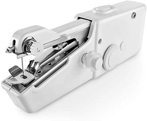 Portable Sewing Machine Handheld Sewing Machine Mini Portable Electric Stitching Machine Battery Power Handheld Sewing Machine Household Tool for Fabric, Clothing, Home Travel Use Kids Adult