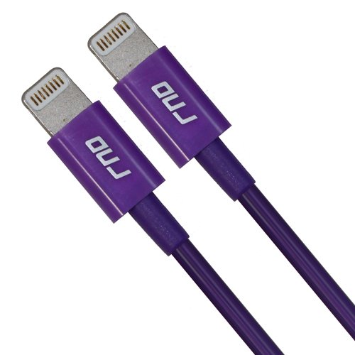 RND Apple Certified Lightning to USB 1.5FT Cable (2-Pack) for iPhone (Xs, XS Max, XR, X, 8, 8 Plus, 7, 7 Plus, 6, 6 Plus, 6S, 6S Plus) iPad (Pro, Air, Mini) and iPod (1.5 feet/.5 Meter/Purple)